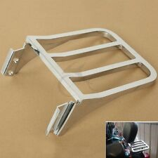 Motorcycle Chrome Sissy Bar Backrest Luggage Rack Rear Carrier For Harley Dyna