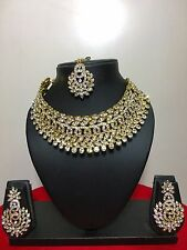 Bollywood Ethnic Gold Plated Indian Fashion Bridal Jewelry Necklace Set