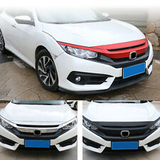 Grilles Stickers For Honda Civic 10th 2016 Carbon Fiber Texture Grill Decoration