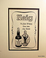 Original Vintage Advert mounted ready to frame Haig Dimple Scotch Whisky 1952