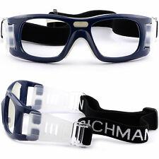 Mens Womens Sports Protection Goggles Frame Prescription Glasses Basketball Navy