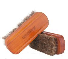 Professional Boot Shoes Cleaning Shine Buffing Brush Horsehair Wooden Handle