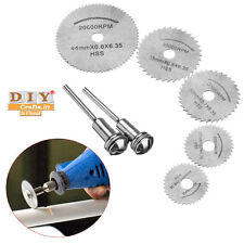 DIY Crafts®7 Pcs HSS Circular Wood Cutting Saw Blade Discs Rotary Tool Mandrelh