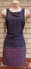 NEW LOOK PURPLE PINK PAISLEY FLORAL SILKY FEEL TUNIC SHIFT CAMI TEA DRESS 10 S