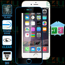 Black Full Front Clear Tempered Glass Screen Protector For Apple iPhone 6S