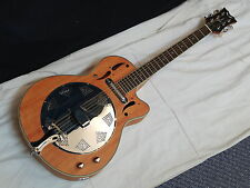 DEAN round-neck electric CUTAWAY Resonator GUITAR new Mahogany