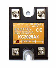 1pc KYOTTO Current Control SSR KC2025AX DCin= 4~20mA ACout=24~280VAC 25A Taiwan