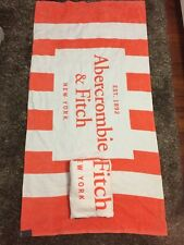 New Abercrombie & Fitch Beach Towel Orange & White