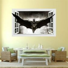 3D Windows Batman Art Vinyl Wall Stickers Decal Mural Kids Room Home Decor