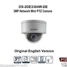 Hikvision DS-2DE3304W-DE 3MP DWDR Network P&P Mini PTZ Dome  4X POE Camera Outdo