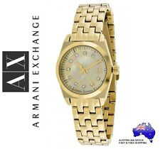 ARMANI EXCHANGE Ladies Gold MISS JACKSON Mother of Pearl Watch - Boxed NEW $299