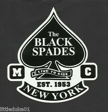 NEW YORK USA 'THE BLACK SPADES' MOTORCYCLE CLUB DECAL STICKER EST 1953 TRIUMPH
