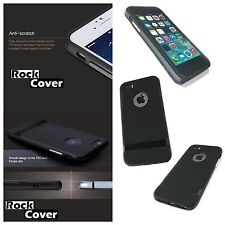 Original Rock Cover Apple iPhone 5S SE Case  Hybrid Flex Rigid Tech Rugged Black