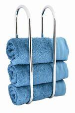 Wall Mounted Towel Rail Bathroom Toilet Hooker Organiser Styler Decor Dryer Hang