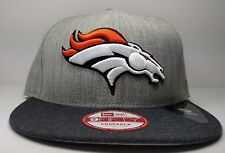 New Era Denver Broncos 9Fifty Heather Action Championship Field Snapback Hat Cap