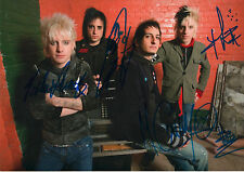 Madina Lake Band full signed 8x12 inch photo autographs