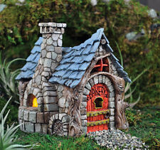 Miniature  Fairy Garden Bakery  W HINGED DOOR /Faerie Gnome House Cottage  16546