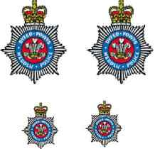 4 X  POWYS POLICE WATERSLIDE DECAL IDEAL FOR CODE 3 MODELS