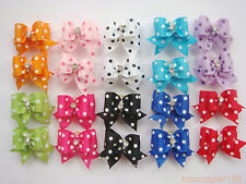 20 x dog cat puppy hair bows ribbon wholesale hairpin flower pets new gift