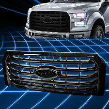 Black ABS Front Bumper Horizontal Billet Style Grille for 2015-2016 Ford F150
