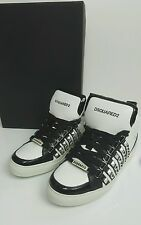 bnwb Dsquared2 studded high tops.sneakers.uk 9.5/44.white/black. £545