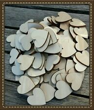 BARGAIN! 100 X 5CM HEARTS LASER CUT WOODEN HEARTS