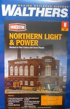 Walthers N #933-3214 Northern Light & Power Powerhouse -- Kit - 6-5/8 x 4-1/8""