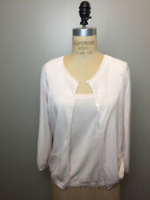 Louis Vuitton Size M Lt. Pinkish/Ivory Cotton Knit Sweater Set 2 Pc.
