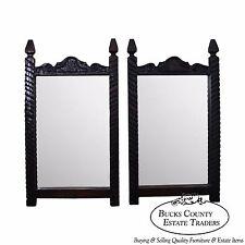 Witco Tiki Elvis Jungle Room Pair of Carved Redwood Frame Mirrors