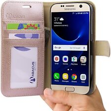 Rose Gold Flip Case for Samsung Galaxy S7 Phone PU Leather Wallet Cover/Stand