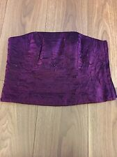 Monsoon Boned Basque/strapless Top. Size 14. Purple.