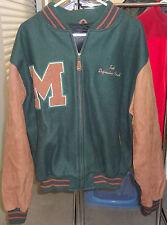Vintage MICROSOFT VCI Dream Team Varsity Letterman Wool & Leather Jacket Sz XL