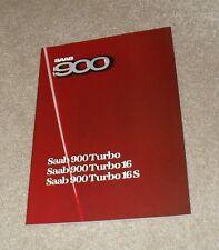 Saab 900 Brochure 1985 - Turbo 16S - Turbo 16 - Turbo Hatchback & Coupe