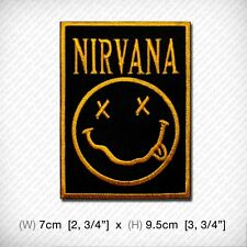 new NIRVANA Embroidered Patch Iron-On Sew Cool American grunge band ROCK MUSIC