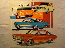 "Plymouth Barracuda 1960's 11.5"" X 11"" T Shirt Iron On Heat Thermal Transfer"