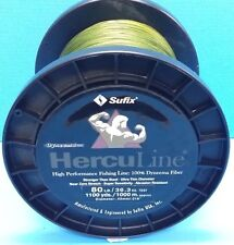 Sufix Herculine Dyneema Braided Fishing Line 80lb 1000m 1100yds Green