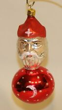 1990 Christopher Radko Glass Christmas Ornament King Arthur Red Ball 89-103-1