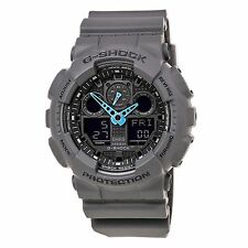 Casio GA100C-8A Men's G-Shock Grey Ana-Digi Dial Black Resin Strap Dive Watch