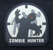 ZOMBIE HUNTER 3D RUBBER PVC ARMY TACTICAL ARMY MILSPEC SWAT VELCRO® BRAND PATCH