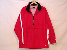 Nike VTG 1/2 zip hooded red white black nylon jacket / mens XL / reg use / s10