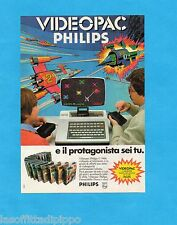 TOP983-PUBBLICITA'/ADVERTISING-1983- PHILIPS VIDEOPAC G 7000