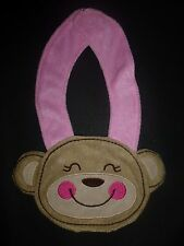 NEW Carter's Pink Monkey Baby Girl Terry Cloth Teething Drool Bib