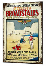 Sunny broadstairs railway train vintage metal sign rétro tin plaque