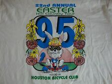 Vintage 22nd Easter Hill Country Tour Bike Race Houston Bicycle Club T Shirt L