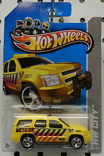 CHEVY TRUCK TAHOE SUV 2007 07 YELLOW RESCUE 13 2013 013 HW HOT WHEELS