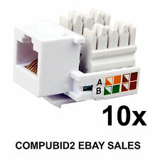 Keystone Jack Enchufe de Pared 10x RJ45 CAT5E CAT6 Adaptador de módulo de red Ethernet LAN