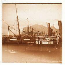 Italie Palerme Palermo Plaque de verre stéréo Positif Vintage 1908