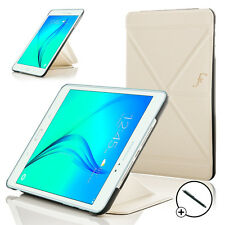 Leather White Origami Smart Case Cover for Samsung Galaxy Tab A 8.0 + Stylus
