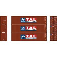 NEW ATHEARN HO TAL INTERNATIONAL 40' CONTAINER 3-PACK