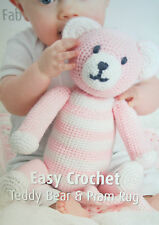 Teddy Bear Toy and Pram Blanket Crochet Pattern
